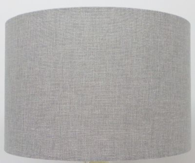Pure Pebble Grey Linen Mix  Drum Lampshade